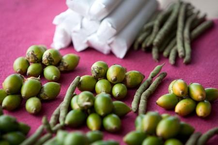 Areca nut (betel nut) for sale in a market