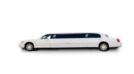 An isolated limousine on white Stock Photo - 4431611