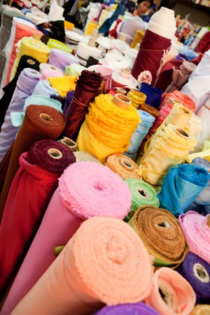 Rolld of cloth at a textile store, bulk Stock Photo - 4555190