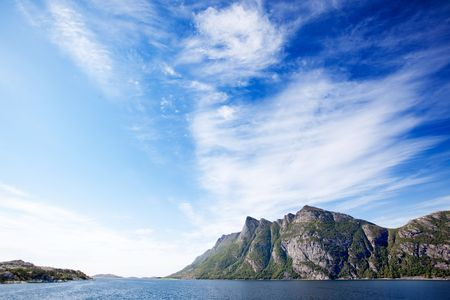Mountains on a coastal landscape in northern Norway Stock Photo - 5681189