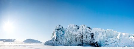 A glacier panorama from the island of Spitsbergen, Svalbard, Norway Stock Photo - 5702187