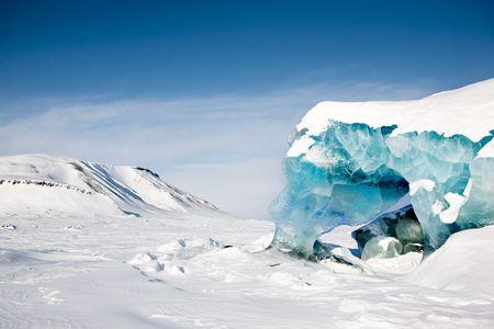 spitsbergen: A glacier detail on the island of Spitsbergen, Svalbard, Norway