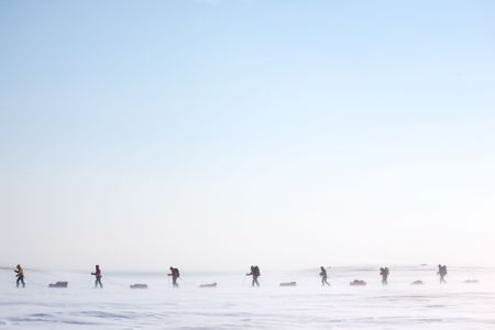 expedition: A group of adventurers on a arctic expedition