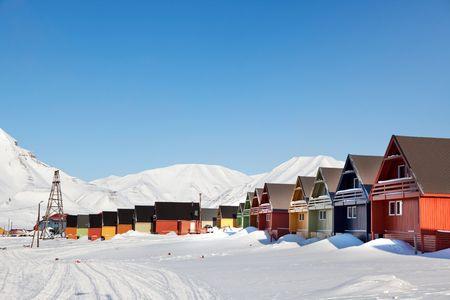 svalbard: A city detail of Spitsbergen, Svalbard, Norway