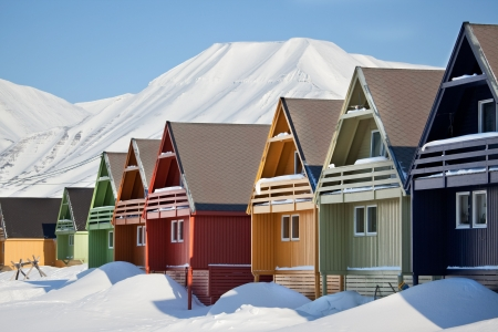 Longyearbyen, Norway, the worlds northern most city. photo