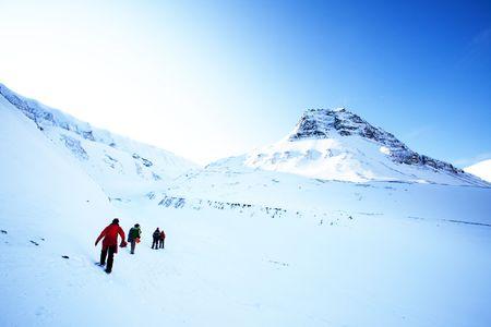 A short trek across a winter landscape photo