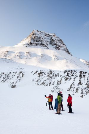 A guide on a short winter trek, Svalbard Norway photo