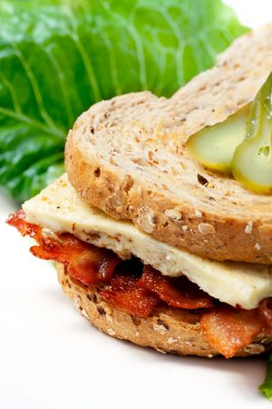 A Western Sandwich (Denver Sandwich) made of omelette and bacon. Stock Photo - 5815613