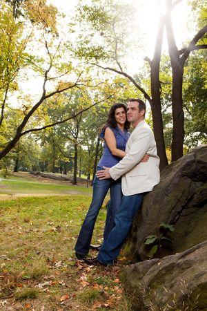 A happy couple relaxing in the park Stock Photo - 5857620