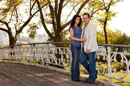 A happy couple relaxing in a park in New York Stock Photo - 5898396