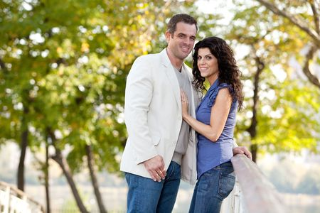 A couple looking at the camera and smiling Stock Photo - 5897974