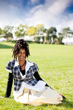 A casual portrait of an African American woman Stock Photo - 5981924