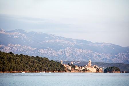 A nature landscape of Rab, Croatia photo