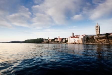 A fortified town - the coast of Rab, Croatia photo