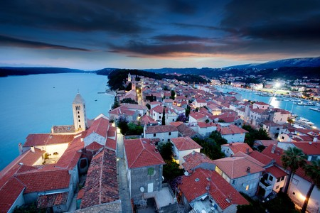An old fortified town in South Eastern Europe - Rab, Croatia photo