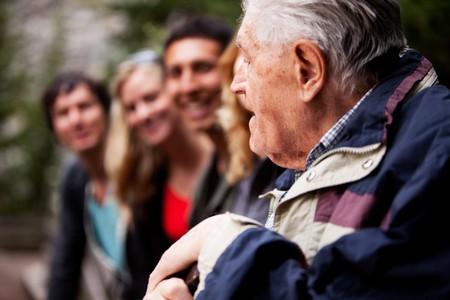 An elderly man telling stories Stock Photo - 7630480