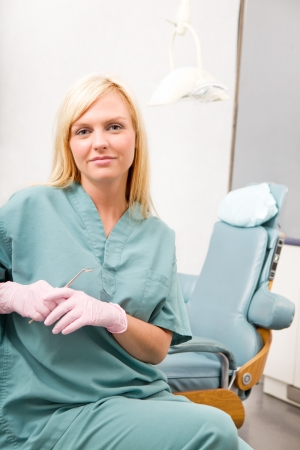 hygienist: A portrait of a dental worker, dentist or assistant