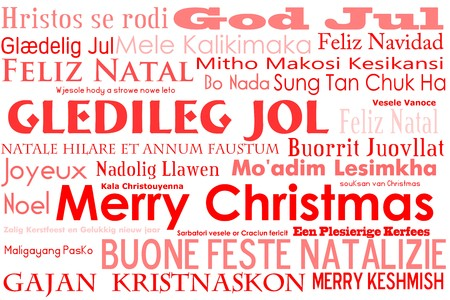 joyeux: A merry christmas tag cloud with many different languages saying merry christmas