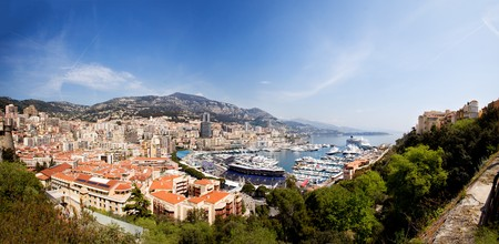 A very large panorama of Monaco, Monte Carlo. photo