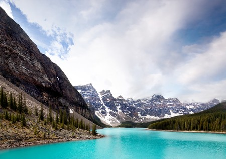 Landscape of Moraine Lake, Banff National Park, Alberta, Canada photo