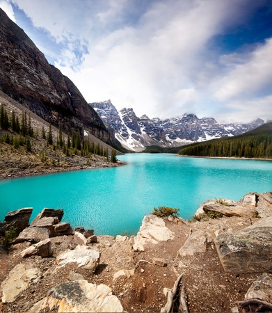 Landscape of Moraine Lake, Banff National Park, Alberta, Canada
