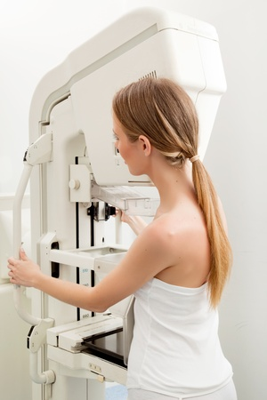 A woman taking a Mammogram test in a hospital Stock Photo - 9359285
