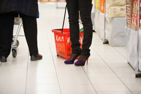 Low section of shoppers in shopping centre Stock Photo - 9599981