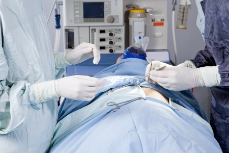 Closeup of a surgery in the operation theatre Stock Photo - 9887507