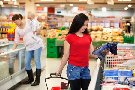 Women spending their time in shopping store photo