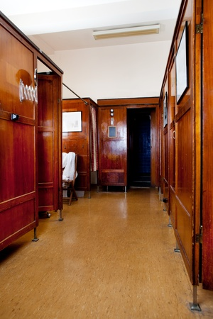 functionalism: A 1920s functionalism style bath house interior Stock Photo