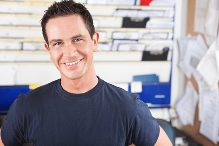 Portrait of a happy mechanic looking at the camera Stock Photo - 10337004