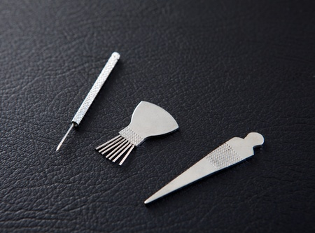 Selection of Shoni Shin tools for pediatric acupuncture photo