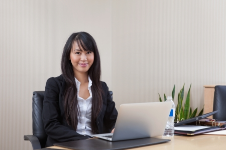 asian office lady: Portrait of beautiful young businesswoman Stock Photo