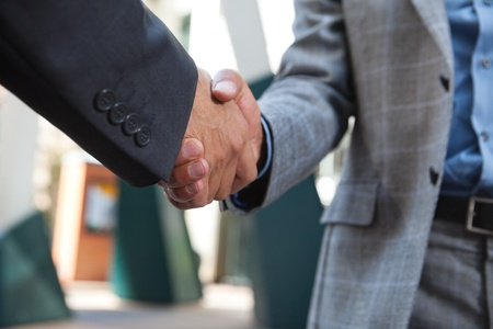 Close-up of business people shaking hands Stock Photo - 11048299