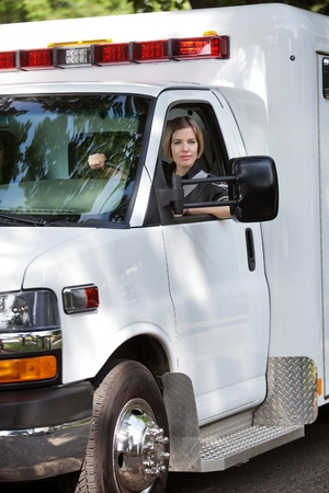 cfr: Portrait of a female ambulance driver