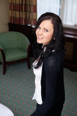 Portrait of pretty female smiling photo