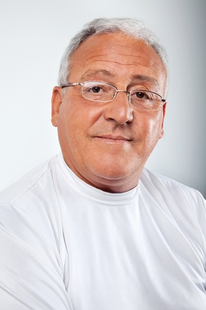 Portrait of smiling senior man wearing glasses Stock Photo - 11702376