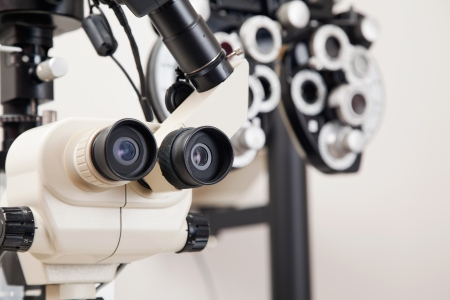 Advance equipments in the clinic to detect any eye disorders photo