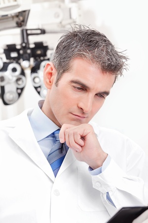 Portrait of doctor in ophthalmology clinic  Stock Photo - 14172205