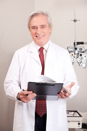 Portrait of doctor in ophthalmology clinic  Stock Photo - 14287903