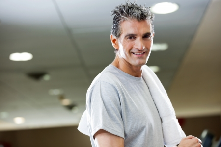 Portrait of mature man with in health club photo