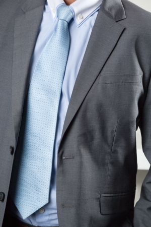 midsection: Midsection of businessman in suit