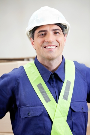 Confident Foreman At Warehouse photo