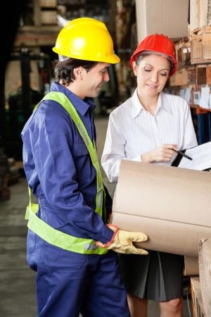 Supervisor And Foreman Inspecting Stock Stock Photo - 16410369