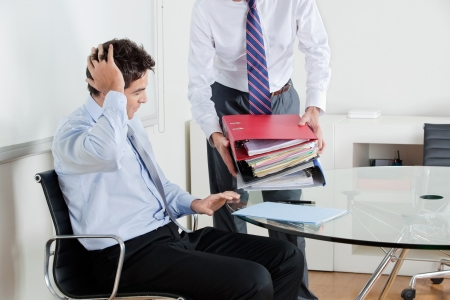 Businessmen Overwhelmed By Load Of Work Stock Photo - 16470534