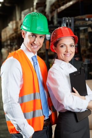 Confident Young Supervisors At Warehouse Stock Photo - 16470544