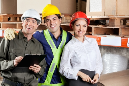 Portrait of Happy Foreman With Supervisors Stock Photo - 16470564