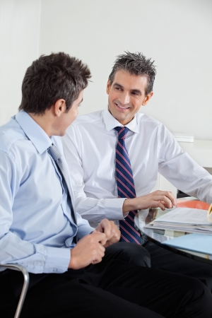 Happy Businessmen In A Meeting Stock Photo - 16672673