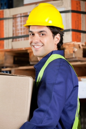 Foreman Working At Warehouse photo