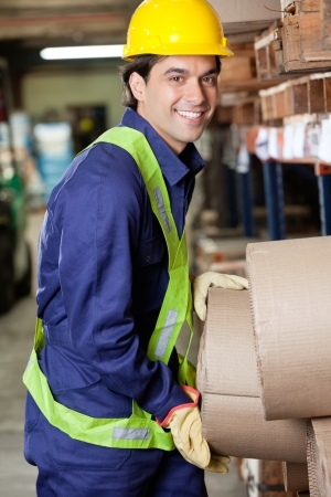 Happy Foreman At Warehouse photo